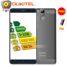 "Free Gift! Official Oukitel K6000 Pro Mobile Phone MT6753 Octa Core Android 6.0 Cellphone 16MP 3G RAM 32G ROM 4G LTE 5.5"" 1080P(China)"