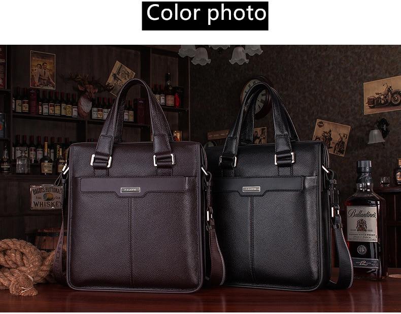 2018 New Shoulder Handbag Men's Casual Genuine Leather Business Bag Briefcase for 14 or 15.6 Inch Laptop Computer Messenger Bag