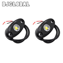 2 inch 9W LED Rock Light for ATV UTV SUV RZV 4X4 Offroad Motorcycle Boat Watercraft Snowmobile Helicopter 10~36V