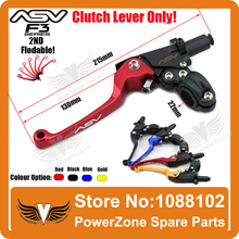 Alloy ASV F3 2nd Long Clutch Folding Lever Only Racing Motorcycle Pit Dirt Bike CRF KLX EXC KTM YZF RMZ Modify Free Shipping