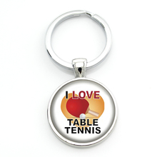 New Arrival men women jewlery fashion Love Table Tennis keychain new pingpong fans gifts key chain ring for sports lover SP330