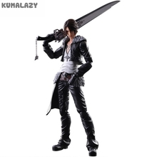 Play Arts Final Fantasy Figure Final Fantasy VII Squall Leonhart Figure PA Play Arts Kai 27cm PVC Action Figure Doll Toys(China)
