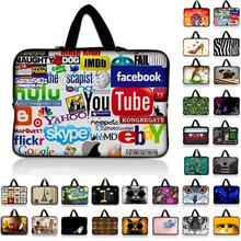 Internet Logo Netbook Laptop Computer Sleeve Inner Zipper Bag Cases Cover Pouch Protector Bags Bolsa +Handle For Macbook Hp Asus