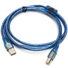 1.5/3/5M Super Long USB 2.0 Extension Print Cable Transparent Blue Male to Male USB2.0 Print Cable For Printer