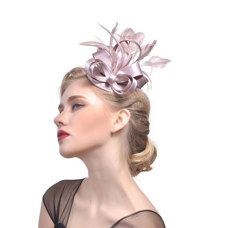 Women s Feather Hair Accessories Europe And America Hat Helmet ... 30388cccd721