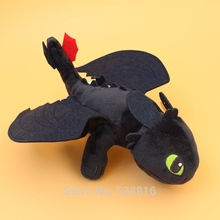 "10"" 25cm Night Fury Plush Toy How To Train Your Dragon 2 Toothless Dragon Stuffed Animal Dolls"
