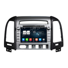NAVITOPIA 1024*600 Octa Core 2G 7 Inch Pure Android 6.0 Car DVD Player for Hyundai SANTA FE 2012 with vehicle GPS navigation
