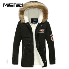 MISNIKI Hot Selling Autumn Winter Long Parka Men Casual Slim Fit Hood Winter Jackets Mens Lovers Coat (Asian Size)(China)