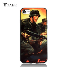 Machine Battle German Gunfire Soldier WWII History For iPhone 5s SE 6 6s 7 Plus Case TPU Phone Cases Cover Mobile Decor Gift