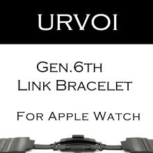 URVOI link bracelet band for apple watch series 3 2 1 strap for iWatch adjustable high quality stainless steel band gen.6(China)