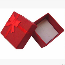 Red Ring Boxes Mini Cute Red Carrying Cases For Rings Gift Display Box Jewelry Packaging 4cm x 4cm x 3.2cm(China)