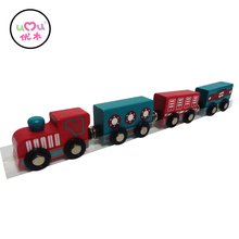 [Umu] Magnetic Designer Wooden Toy Number Trains Vehicles Kids Toys For Children Machine Models Building Toy Car Baby Friends(China)
