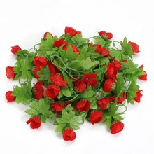 Artificial flower garland roses Garland Garland Wall Home Party Garden Decor Red