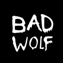 Model Text Doctor Bad Wolf Car Sticker for Motorhome SUV Bumper Motorcycles Laptop Car Styling Reflective Vinyl Decal 10 Colors