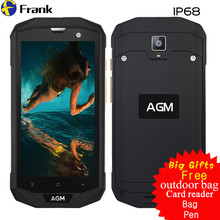 "Big Gifts Original AGM A8 IP68 Waterproof Phone Rugged Shockproof Smartphone IP68 3GB RAM NFC Android 7 Dual SIM 5"" IPS 4G LTE"