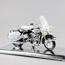 1/18 Scale kids Harley 1966 FLH Electra Glide Diecast metal model motorcycle Cruiser touring motor Collectible car toys for boy