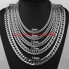 Buy 6/8/10/12/14/17mm Wide Strong Men Cuban Curb Link Chain Stainless Steel Bracelet/Necklace High Polishing Silver Tone 7-40inch for $3.77 in AliExpress store