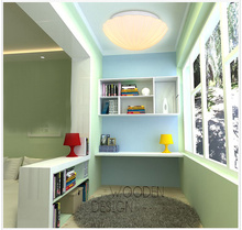 Mediterranean LED bedroom glass shell ceiling lamps personality balcony lamp entrance corridors of children room lamps