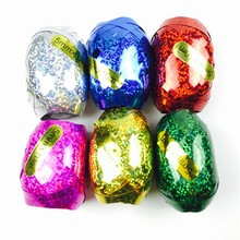XXPWJ Free shipping new 6pcs-lots Foil balloon ribbon 5mm * 10m party wedding gifts wholesale party decoration toys(China)