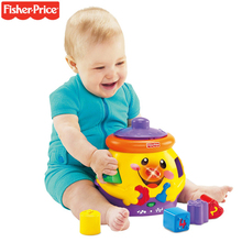 Origina Fisher Price Grasp Sound Souptoys A Cute Little Cookie Jar (Bilingual) Exercise Baby Language Best Educational Baby Toys