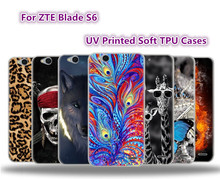 "ZTE Blade S6 Case Soft TPU Cases Cover For ZTE Blade S6 Q5 5.0 "" Cell Phone Case Back Cover Fundas Coque UV Printed Case Capa"