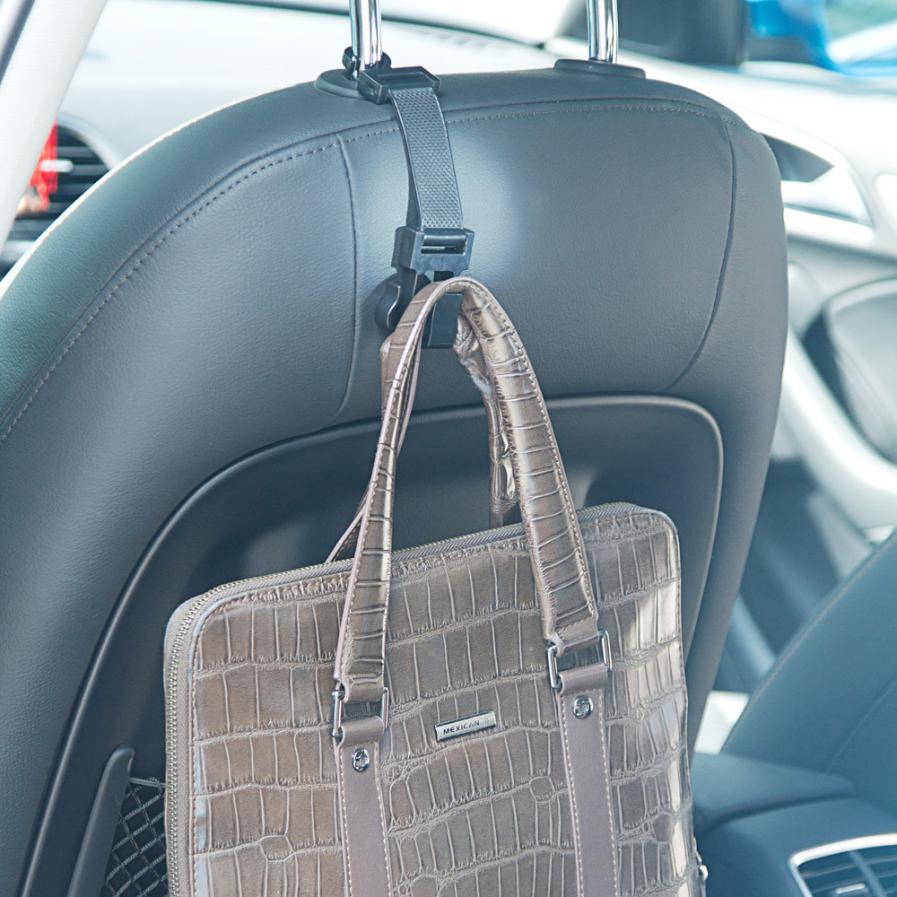 Portable Car Seat Hanger with Three Hooks for Shopping Bags, Purse at STK Car Accessories Store