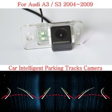 Lyudmila Car Intelligent Parking Tracks Camera FOR Audi A3 / S3 2004~2009 / HD CCD Night Vision Back up Reverse Rear View Camera(China)