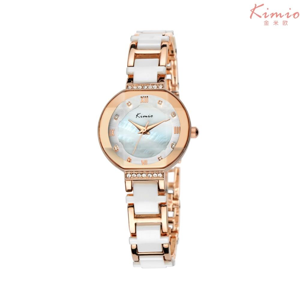 2017 Kimio Luxury Brand Quartz Women Watches Diamond clock Bracelet Ladies Dress Gold Ceramic Watches hodinky women montre femme<br><br>Aliexpress