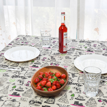 2017 New Linen Table Cloth Christmas Cartoon Print High Quality Tablecloth Table Cover manteles para mesa Free Shipping