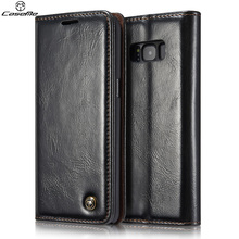 For Samsung Galaxy S8 Plus Case Cover Flip Wallet Leather Shockproof Luxury Phone Cases Black Brown for Samsung Galaxy S8 Covers(China)