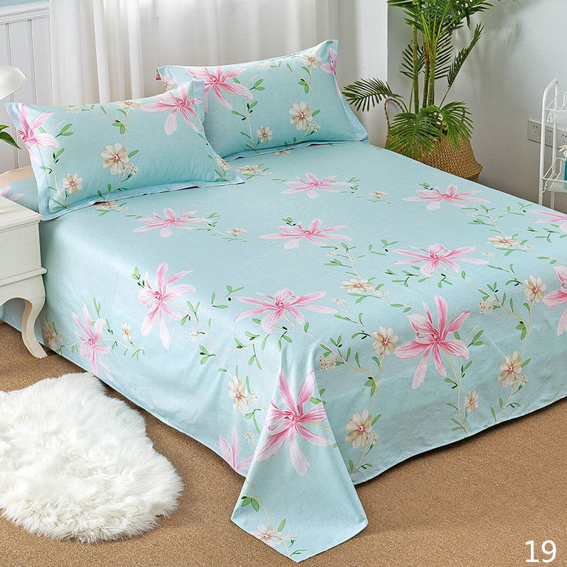 100% Cotton Modern Fashion Bed Flowers Flowers And Trees Printing Pattern 3pcs Bed Sheets Pillowcase Large Size 230x250cm 22