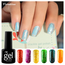 Verntion Cracking gel nail polish Need top Base coat Crackle gel Lacquer Varnish LED UV Soak Off Crack Pattern Nail Gel(China)