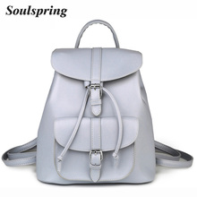 Brand Pu Leather Backpack Women School Bags For Teenagers Girls String Backpacks Medium Size Female Backpack Ladies Shoulder Bag