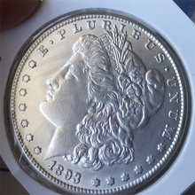 90% silver Date 1893-S Morgan Dollars copy coins -High Quality(China)