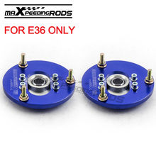 Front Coilover Camber Plate For BMW E36 3 Serie s 325 318 323 328 320 M3 Top Mount Kit Blue 1992-1999 Coilovers Top Mounts Kit(China)
