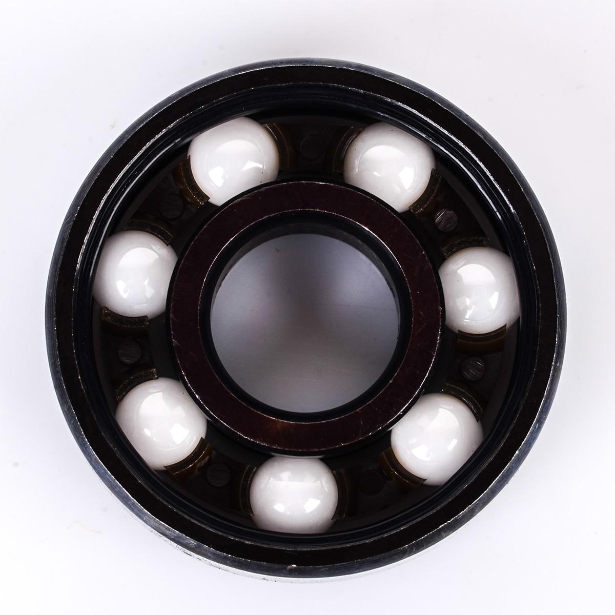 1X Round Mini Skateboard Bearings 608 Ceramic Inline Speed Ball Bearing Hardware Shafts For Finger Hand Spinner Skateboard