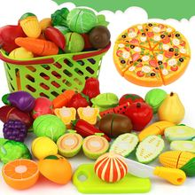 24Pcs/set Miniatures Vegetable Fruit Kitchen Toy Set For Children Pretend Playing House Toys Plastic Crafts Childern Kids Gifts