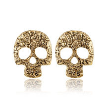 Fashion Trends Retro Skeleton Earrings Stud Earrings Set Little Rock Punk Gothic Retro Jewelry Men & Women Brinco Masculino(China)