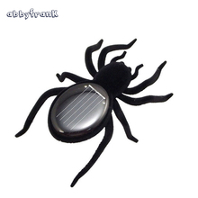 Spider Solar Toy Black Spider Insect Bug Toy Tarantula Gadget Hexapod Solar Robot Tricky Funny Solar Energy Toys For Kids