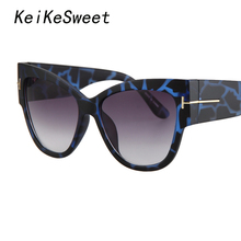 KeiKeSweet Brand Designer Super Star Shades Oversized Outdoor Fords Sun Glasses Celebrity Woman Ce Hot Letter Ladies Sunglasses(China)