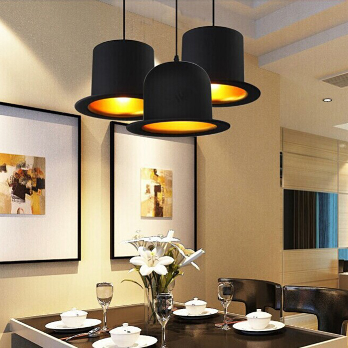Creative lamp holder Jeeves &amp; Wooster Top Hat Pendant Light aluminum fedora hat light dining room bedroom Britain droplight<br><br>Aliexpress