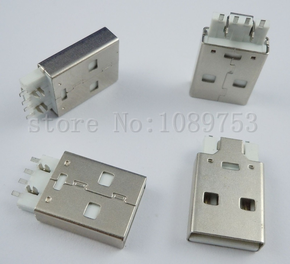 200Pcs USB Type-A Male Plug Connector For PC DIY<br><br>Aliexpress