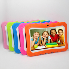 "Kids Brand Tablet PC 7"" Quad Core children tablet Android 4.4 Allwinner A33 google player wifi +big speaker+protective cover"