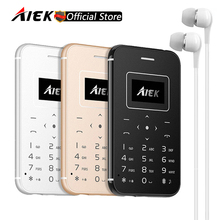 New AIEK/AEKU X8 Ultra Thin Card Mobile Phone Mini Pocket Students Phone Low Radiation Support TF Card PK AIEK E1 X6 M5 C6(China)