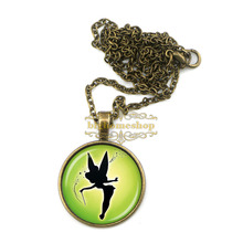 BZA0199 Tinker bell  fairy pendant necklace,jewelry for kids new