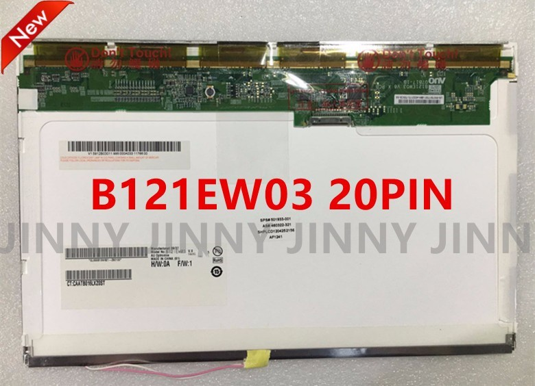 Free Shipping N121I3-L01 L03 L02 LTN121W1-L03 -L01 LTN121AT02 CLAA121WA01A B121EW03 LTD121EWVB 20PIN XJ Laptop LCD Screen<br>