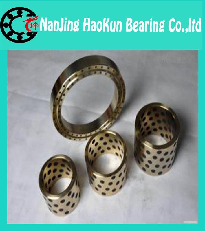 JDB solid lubricating bearings  Graphite inserts  Copper sets copper sleeve  Graphite copper sleeve  JDB12*18*25<br><br>Aliexpress