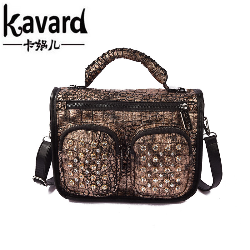 Vintage Diamonds Alligator Crystal Women Leather Handbags High Quality Brand Designer Rivets Tote Crossbody Bag Bolsos Mujer Sac<br><br>Aliexpress