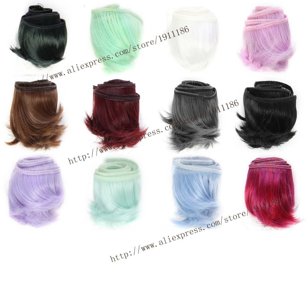 1pcs 5cm*100cm Short curly wigs/hair for dolls 1/3 1/4 bjd/SD Monster High dolls Accessories(China (Mainland))