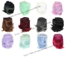 1pcs 5cm*100cm curls hair Short wigs for dolls 1/3 1/4 1/6 bjd dolls SD Monster High dolls Accessories(China)